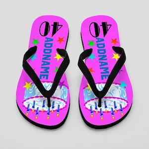 0e1db3c4c 40th Birthday Flip Flops - CafePress