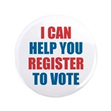 I can help you register to vote buttnon 100 Pack