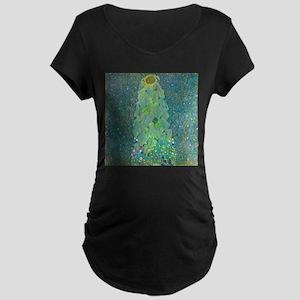Sunflower by Gustav Klimt Maternity T-Shirt