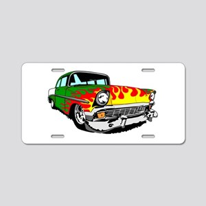 This 56 Bel air is on fire! Aluminum License Plate