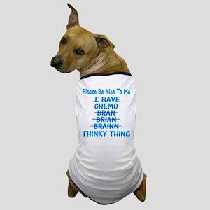 Funny Cancer Chemo Brain Blue Dog T-Shirt