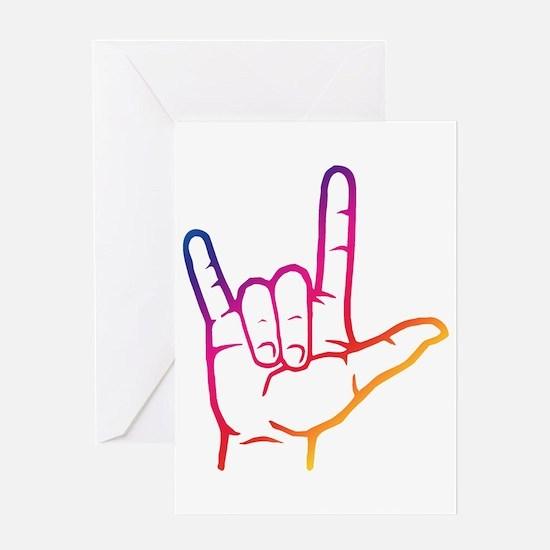 Rainbow ASL I Love You Greeting Card