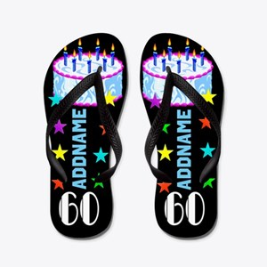 Fabulous 60th Flip Flops