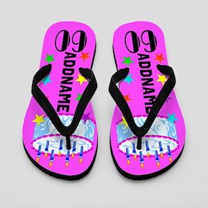Pretty Pink 60th Flip Flops