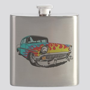 Im Mad for this Light Blue Flamed Bel Air! Flask