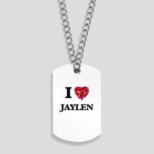 I Love Jaylen Dog Tags