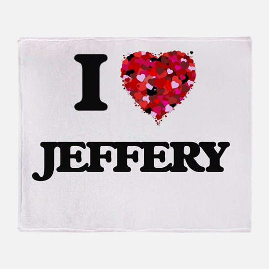I Love Jeffery Throw Blanket