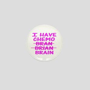 Funny cancer bran brain Mini Button