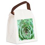 Succulent Canvas Lunch Bag