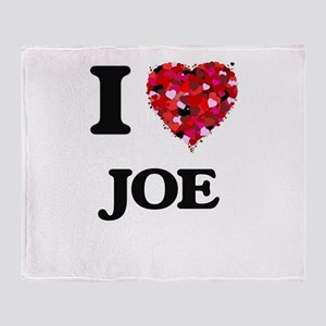 I Love Joe Throw Blanket