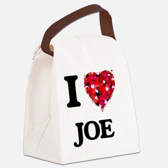 I Love Joe Canvas Lunch Bag