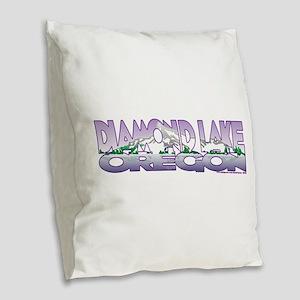 NEW! Diamond Lake Burlap Throw Pillow