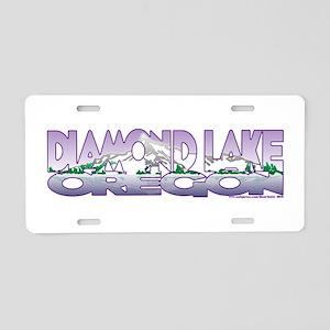NEW! Diamond Lake Aluminum License Plate