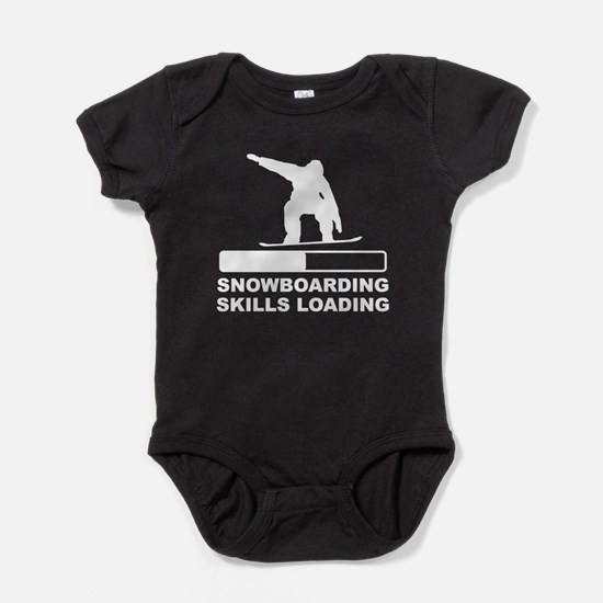 Snowboarding Skills Loading Baby Bodysuit