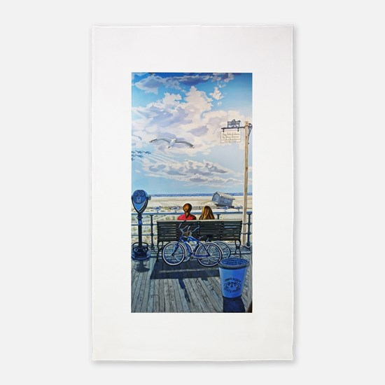 Jones Beach Boardwalk Area Rug