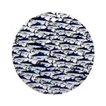 School of Bluefin Tuna Ornament (Round)