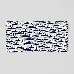 School of Bluefin Tuna Aluminum License Plate