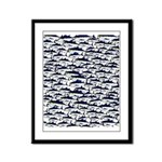 School of Bluefin Tuna Framed Panel Print
