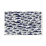 School of Bluefin Tuna Rectangle Car Magnet