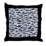 School of Bluefin Tuna Throw Pillow