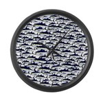 School of Bluefin Tuna Large Wall Clock