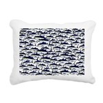 School of Bluefin Tuna Rectangular Canvas Pillow