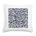 School of Bluefin Tuna Square Canvas Pillow