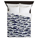School of Bluefin Tuna Queen Duvet
