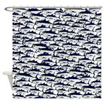 School of Bluefin Tuna Shower Curtain