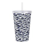 School of Bluefin Tuna Acrylic Double-wall Tumbler