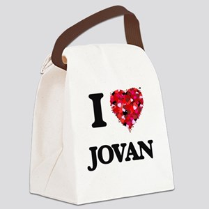I Love Jovan Canvas Lunch Bag