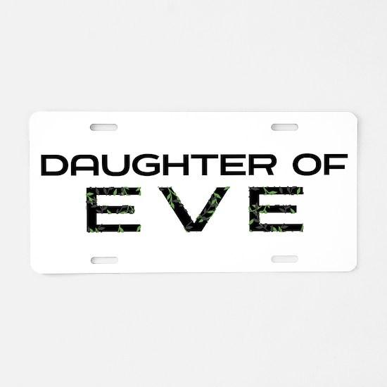 Daughter of Eve Aluminum License Plate