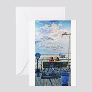 Jones Beach Boardwalk Greeting Cards