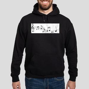 Music Notes Hoodie (dark)