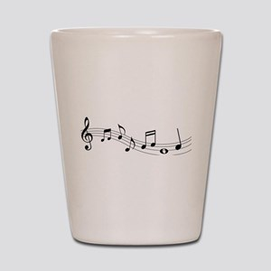 Music Notes Shot Glass
