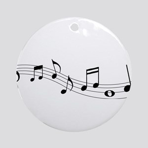 Music Notes Ornament (Round)