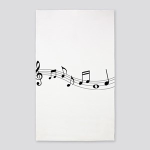 Music Notes Area Rug