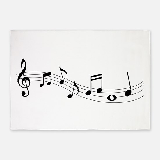 Music Notes 5 X7 Area Rug