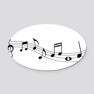 Music Notes Oval Car Magnet
