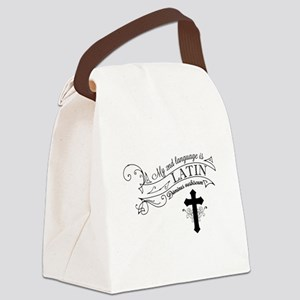 Latin is My 2nd Language Canvas Lunch Bag