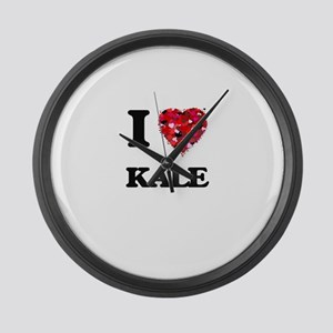 I Love Kale Large Wall Clock