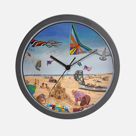 Robert Moses Beach Wall Clock