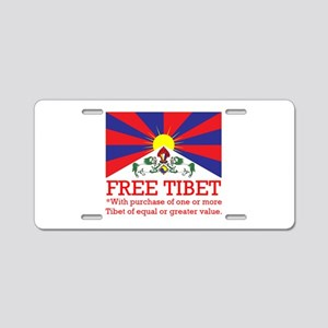 Free Tibet With Purchase Aluminum License Plate