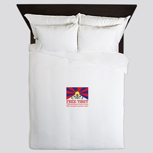 Free Tibet With Purchase Queen Duvet
