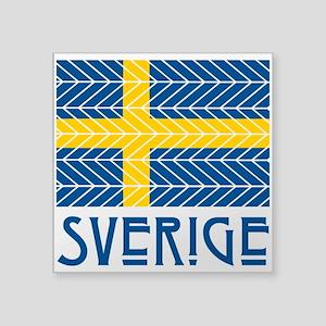 "Sverige Square Sticker 3"" x 3"""