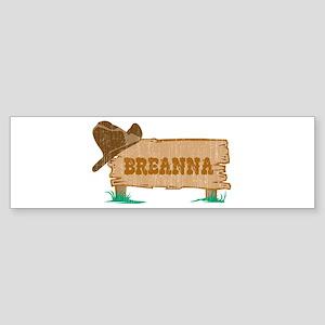 Breanna western Bumper Sticker