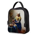 Vermeer The milkmaid with kitten Neoprene Lunch Ba