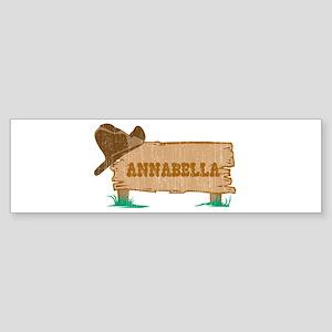 Annabella western Bumper Sticker