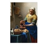Vermeer The Milkmaid With Postcards (package Of 8)