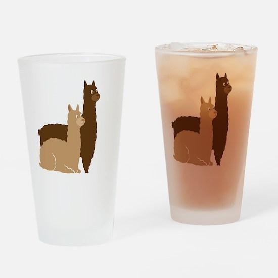 2 alpacas  Drinking Glass